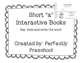 """Short """"a"""" Interactive CVC Books"""