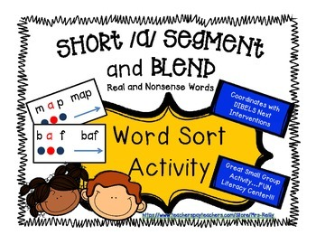 Segment and Blend - Short a  CVC - Real and Nonsense Words