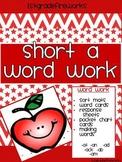Short a WORD WORK