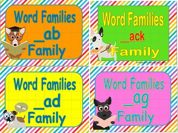 Rhyming Words/Word Families Short A Power Points and Print