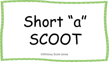 """Short """"a"""" Word Family SCOOT"""