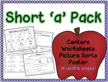 Short a Word Work Pack