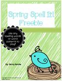 Spring Spell It Freebie