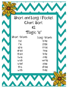 Short and Long I Pocket Chart Sort  #2
