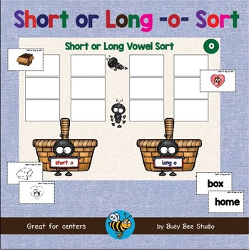 ESL GAMES: Short and Long O Word Sort (CVC and CVCE)