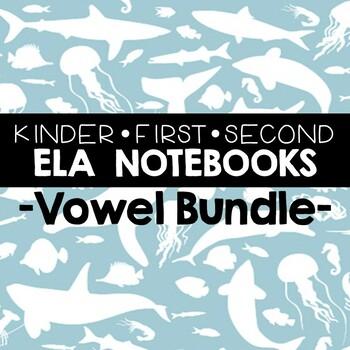 Short and Long Vowel Printables for Notebooks (Bundle)