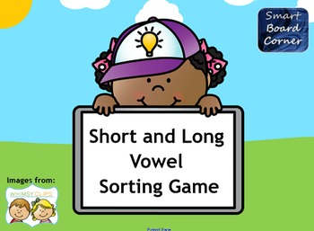 Short and Long Vowel Sorting game for SMART Board