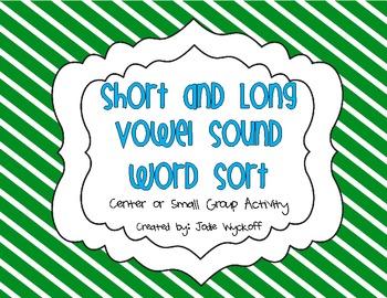 Short and Long Vowel Sound Word Sort
