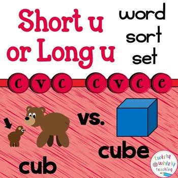 Short and Long u Word Sort Set