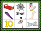 """Short """"e"""" CVC Mat with matching pictures, words and record"""