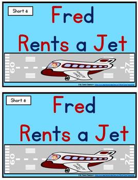 Short e - Fred Rents a Jet Student Reader and Cloze Activities