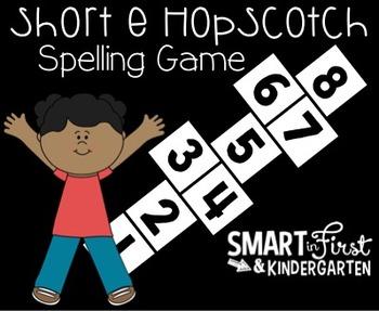 Short e Hopscotch Spelling Game