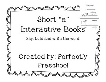 "Short ""e"" Interactive CVC Book"