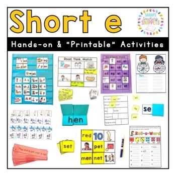 Short e Phonics Practice Pack