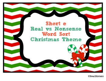 Short e Real vs. Nonsense Word Sort and Tree Map - Christm