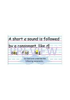 Short e Sound Interactive Power Point