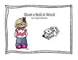 Short e Vowel Roll a Word Fluency
