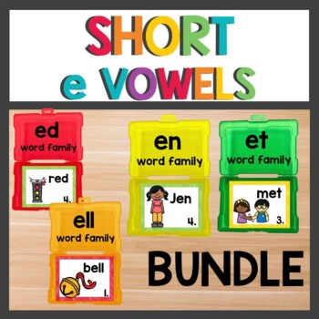 Short e Word Work Bundle