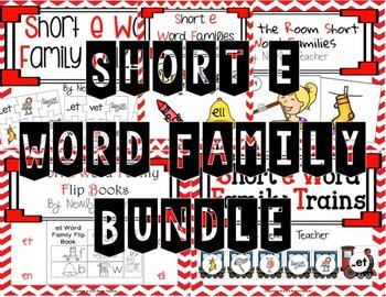 Short e Word Family Bundles