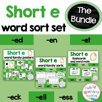 Short e Word Sorts Bundle