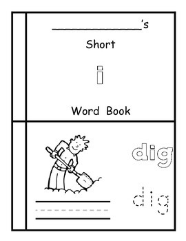 "Short ""i"" Book and Activities"