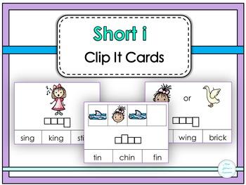 Short i Clip It Cards