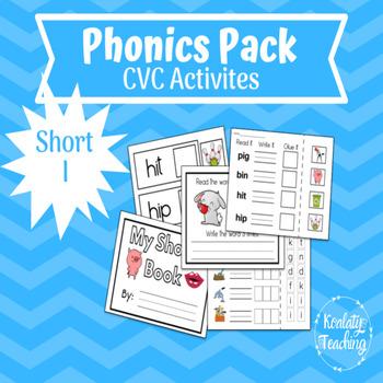 Short i Phonics Activities with CVC Words