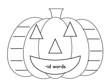 Short i Pumpkin Word Families