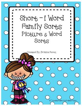Short -i Word Family Sorts
