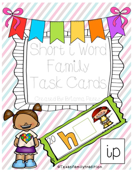 Short -i Word Family Task Cards