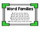 Short i Word Family Trains
