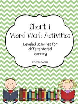 Short i Word Work Activities- {Leveled}