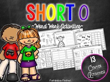 Short o CVC Word Work Activities
