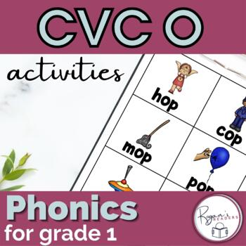 CVC short o Word Work Activities