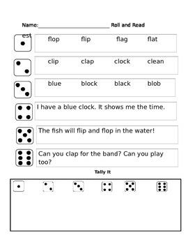 L Blend Phonics partner game