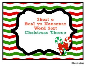 Short o Real vs. Nonsense Word Sort and Tree Map - Christm