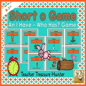 Short o VOWEL card GAME I have who has  35 cards with pictures