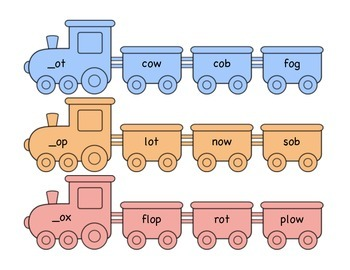 Short o Word Family Train