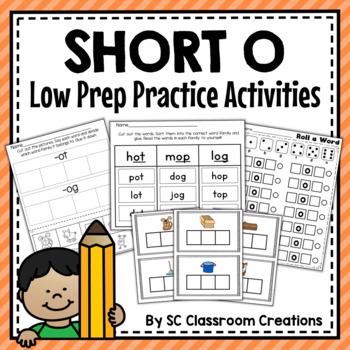 Short o Word Work Set