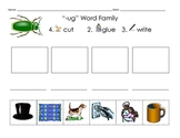 Short o and Short u Word Families Cut and Paste