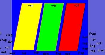 Promethean Board-Short o: -op, -og, -ot flipchart.