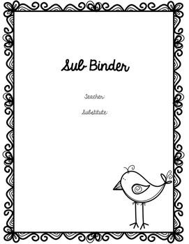 Short or Long Term Sub Binder- EDITABLE