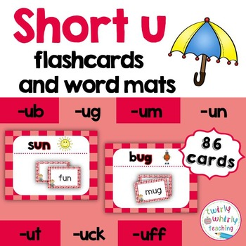 Short u Flashcards and Center Activities