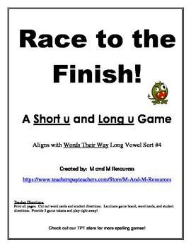 Short u Long u  Race to the Finish Game