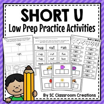 Short u Word Work Set