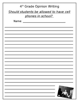 Should Students be Allowed to Bring Phones to School Writi
