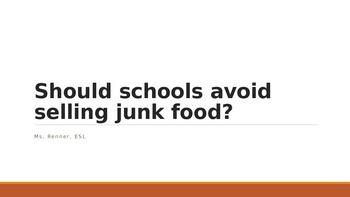 IR Should schools avoid selling junk food?