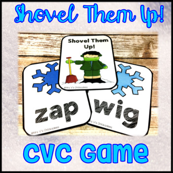 Blending Sounds & Reading CVC Words Center Game