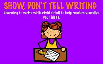 Show, Don't Tell Writing Flipchart