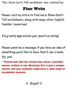 Show-Don't-Tell 2 No Prep Passages